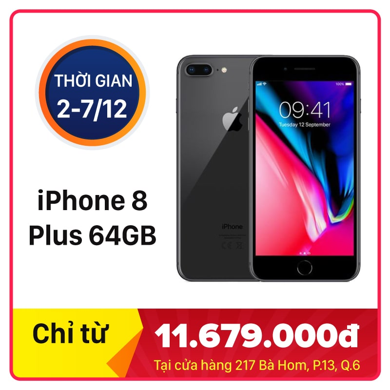 iPhone 8 Plus 64GB CH/A Quốc Tế (Chưa Active) (Like New)