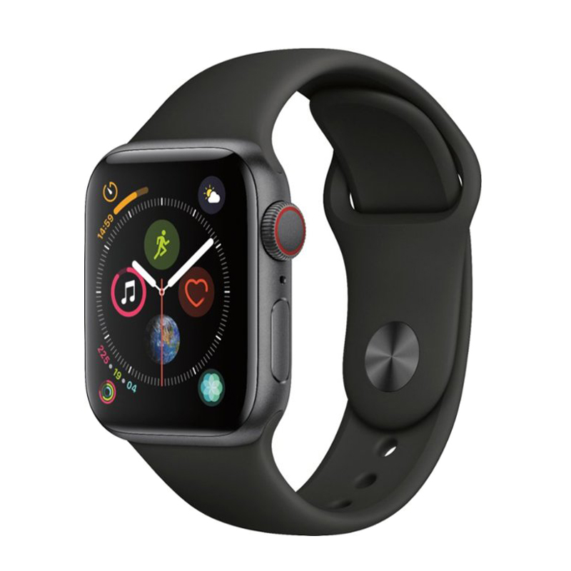 Apple Watch Series 4 Space Gray Aluminum 40mm Black Sport Band (GPS+CELLULAR)