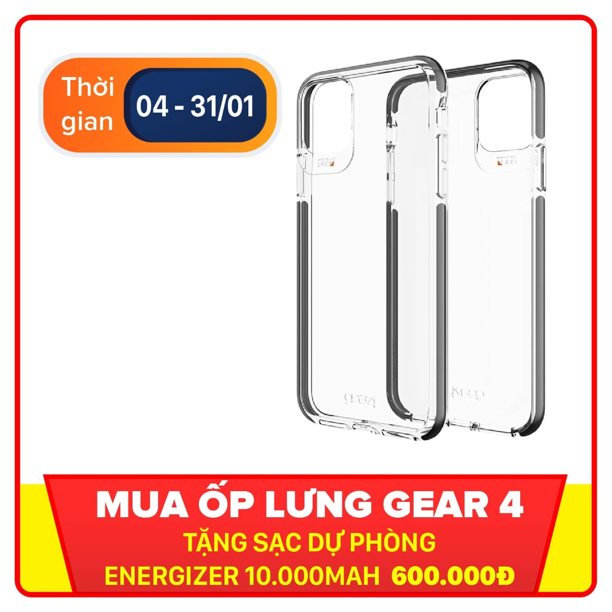 Ốp lưng chống sốc iPhone 11 Pro Max GEAR4 D3O Piccadilly