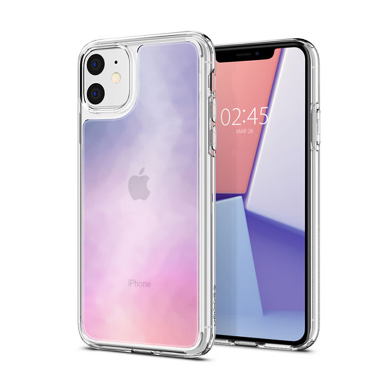 Ốp lưng iPhone 11 Spigen Crystal Hybrid Quartz Gradation