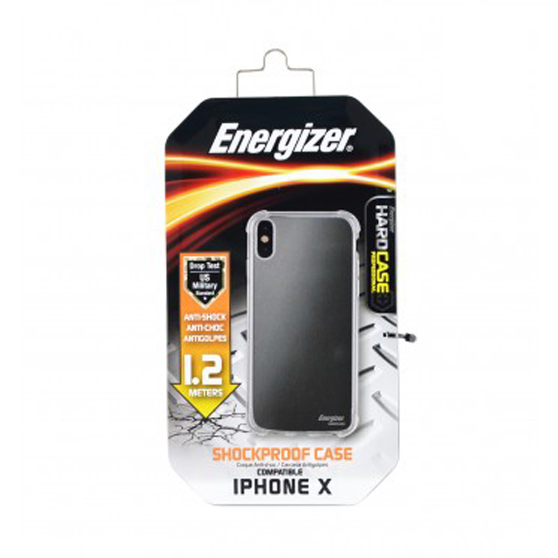 Ốp lưng trong Energizer chống sốc 1.2m cho iPhone X - ENCMA12IP8TR