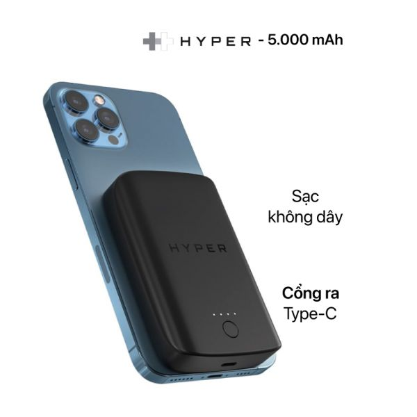 Sạc dự phòng HyperJuice Magnetic wireless cho iPhone 12