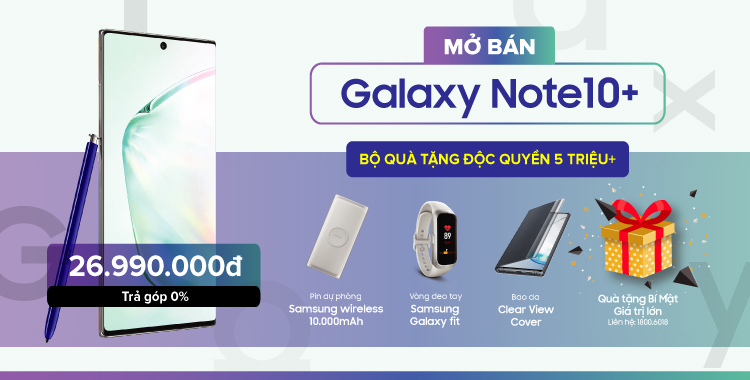 Mở bán note 10+
